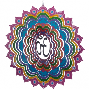 Mandala OM wind spinner