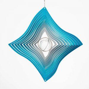 Diamond Crystal wind spinner blue