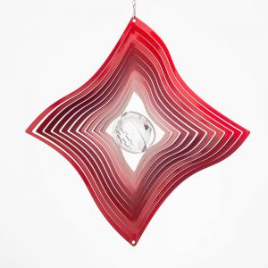 Diamond Crystal wind spinner red