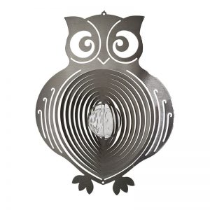 Owl Crystal Wind Spinner