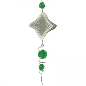 Spiral and wind spinner combo with green ball