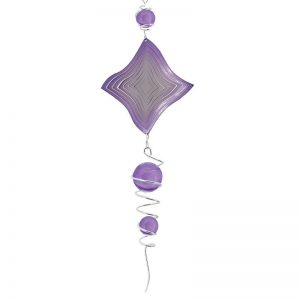 Spiral and wind spinner combo with purple ball