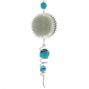 Spiral combo splash blue wind spinner