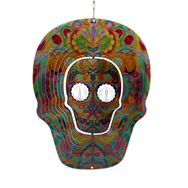 Skull Multi Large Crystal Eyes Wind Spinner