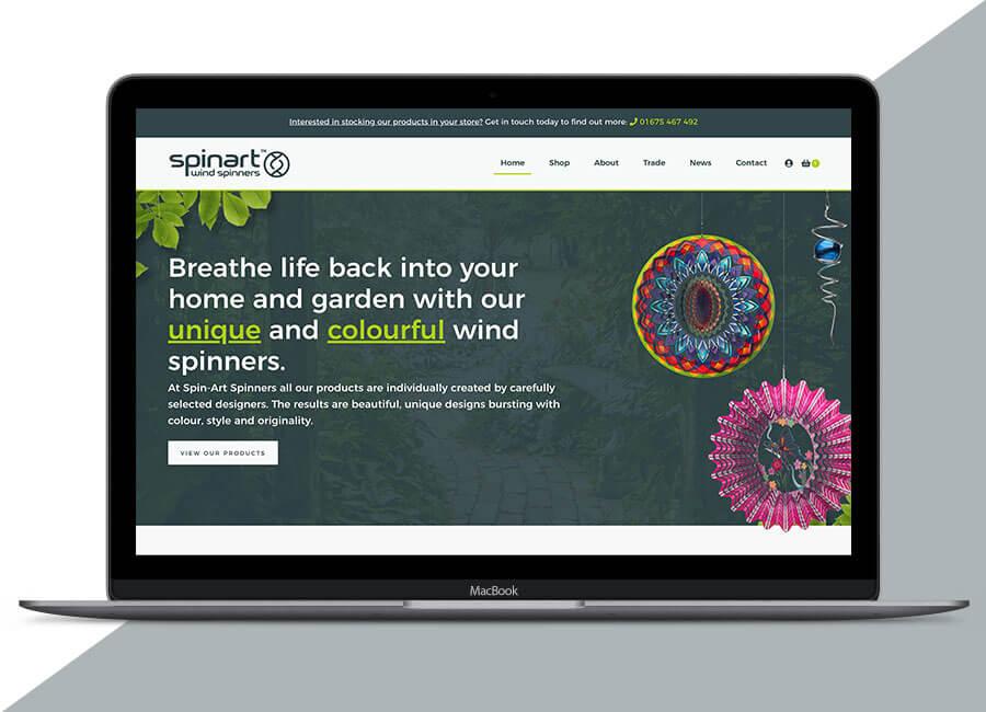 Spin Art website on macbook